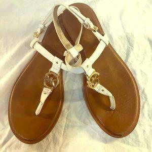 Michael Kors gold / white sandals